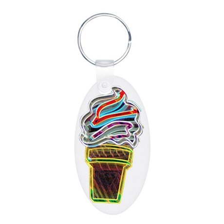 Neon Ice Cream Cone Keychains