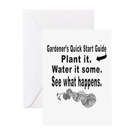 Gardening quick start guide Greeting Card