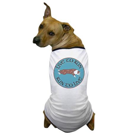 Red Merle BC Live To Run Logo Dog T-Shirt