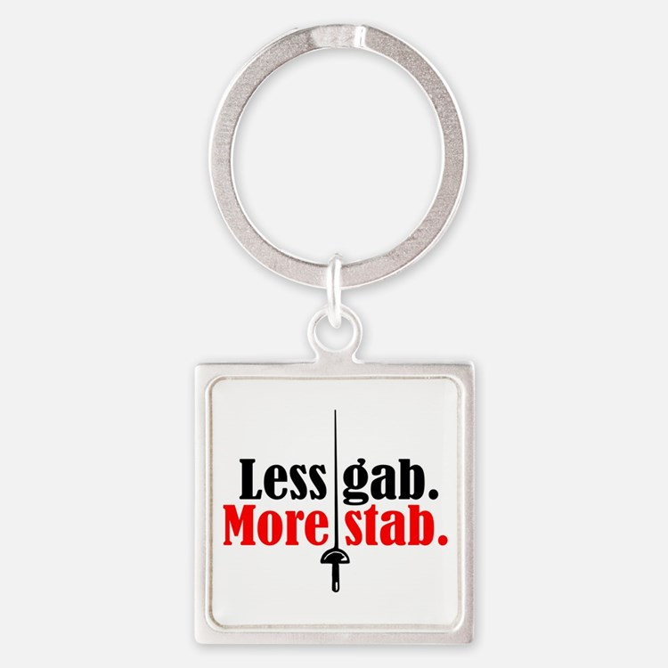 More Stab Square Keychain