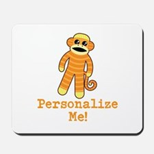 Orange Sock Monkey Mousepad