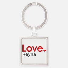 Love Reyna Square Keychain