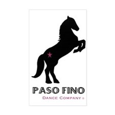 Paso Fino Sticker (Rectangular, blk/pnk)