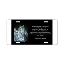 Unique Stallion Aluminum License Plate