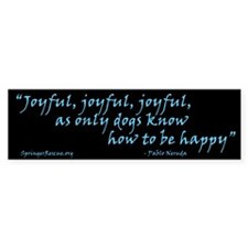 Joyful! Text w/URL Bumper Bumper Sticker