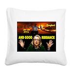 GOOD RIDDANCE Square Canvas Pillow