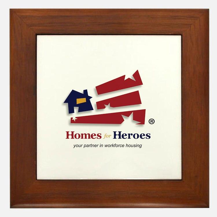 Cute Homes Framed Tile