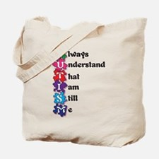Autism Poem I am Me! Tote Bag