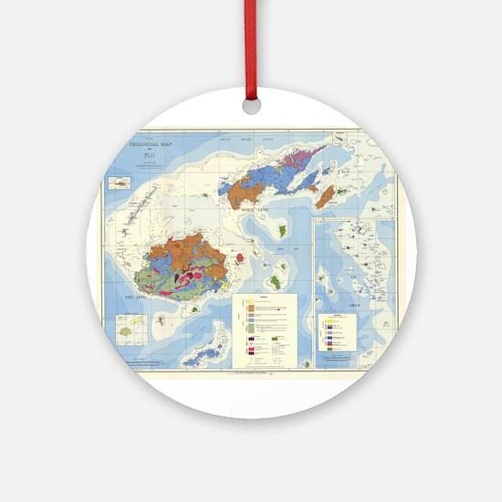 Fiji Map Ornament (Round)