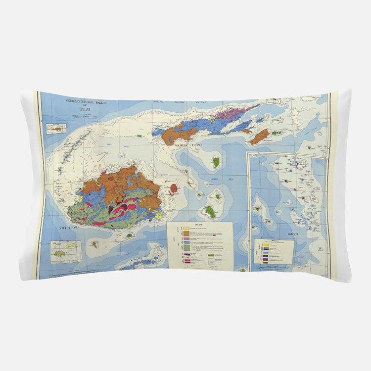 Fiji Map Pillow Case