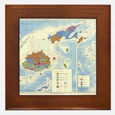 Fiji Map Framed Tile