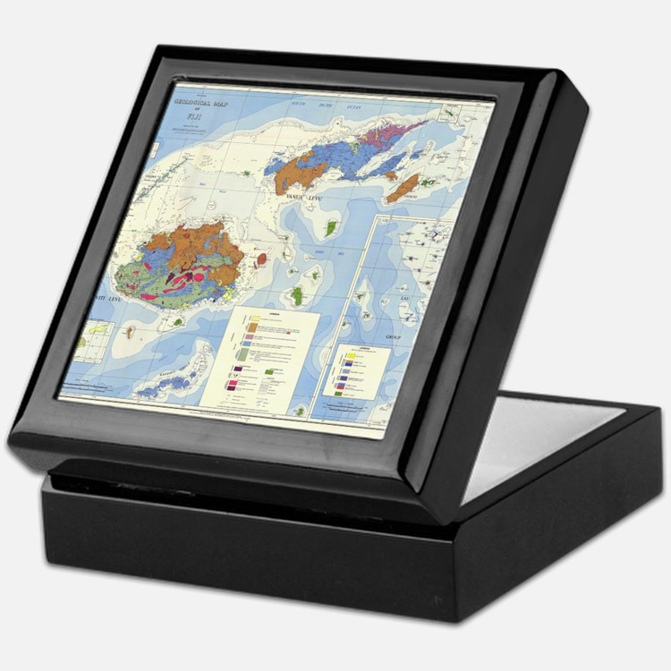 Fiji Map Keepsake Box