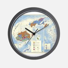 Fiji Map Wall Clock