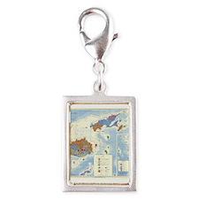 Fiji Map Silver Portrait Charm