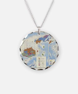 Fiji Map Necklace