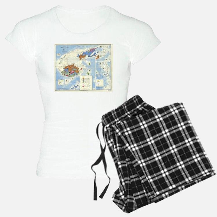 Fiji Map Pajamas