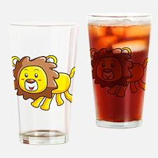 Stuffed Lion Drinking Glass