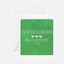 Coffee and Good Book Greeting Card