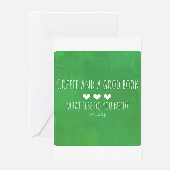 Coffee and Good Book Greeting Card
