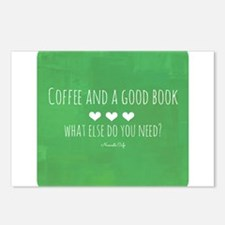 Coffee and Good Book Postcards (Package of 8)