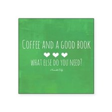 Coffee and Good Book Sticker