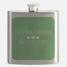 Coffee and Good Book Flask