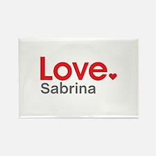 Love Sabrina Rectangle Magnet