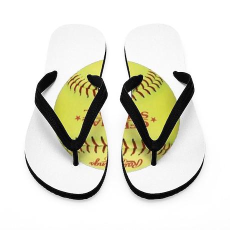 Softball Flip Flops