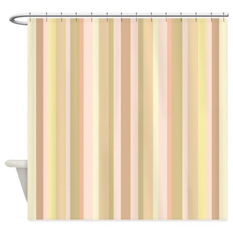 Yellow Stripes Shower Curtain By Getyergoat