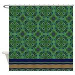 Peacock Kaleidoscope Pattern Shower Curtain