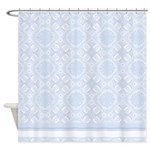 Abstract Baby Blue Shower Curtain