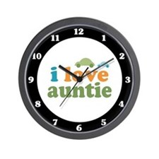 I Love Auntie Wall Clock