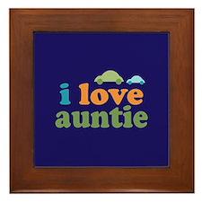 I Love Auntie Framed Tile
