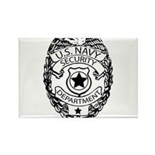 US Navy Police Badge Rectangle Magnet