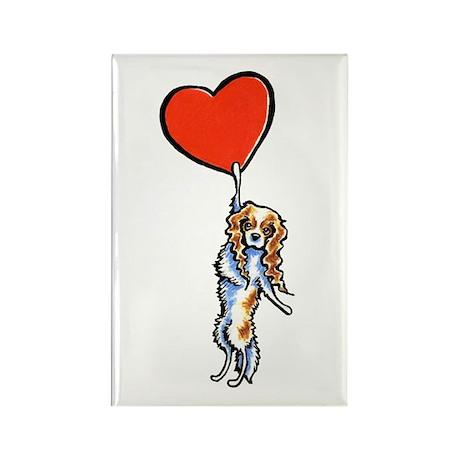 CKCS Blenheim Heart Rectangle Magnet (100 pack)