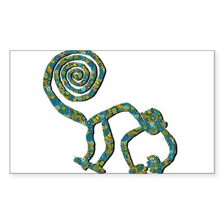 Nazca Monkey Flower Blue Sticker
