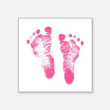 Baby Girl Footprints Sticker