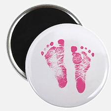 Baby Girl Footprints Magnet