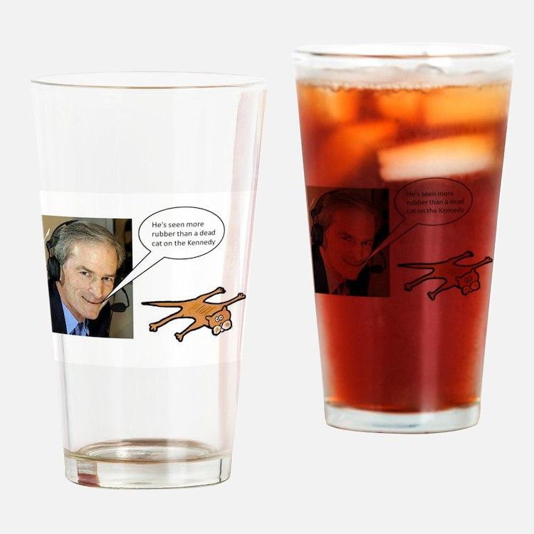 Blackhawks Dead Cat On The Kennedy Drinking Glass