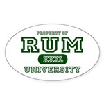 Rum University Oval Sticker