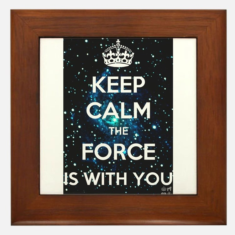 The Force is with you Framed Tile