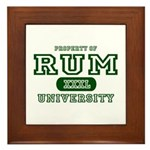 Rum University Framed Tile