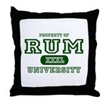 Rum University Throw Pillow