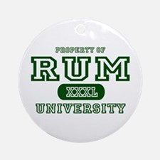 Rum University Ornament (Round)