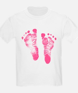 Baby Girl Footprints T-Shirt