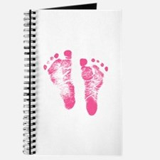 Baby Girl Footprints Journal