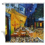Cafe Terrace at Night by Van Gogh Shower Curtain