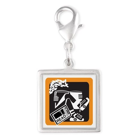 Kids Today Silver Square Charm
