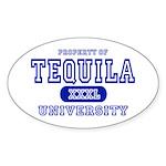 Tequila University Oval Sticker