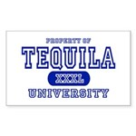 Tequila University Rectangle Sticker